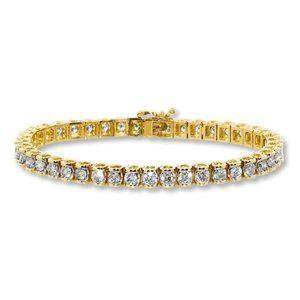 6.00 Carats sparkling round diamonds Tennis bracel